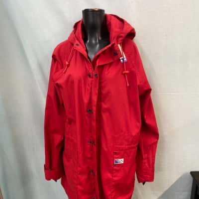 Womens  Size 34 Raincoat Red