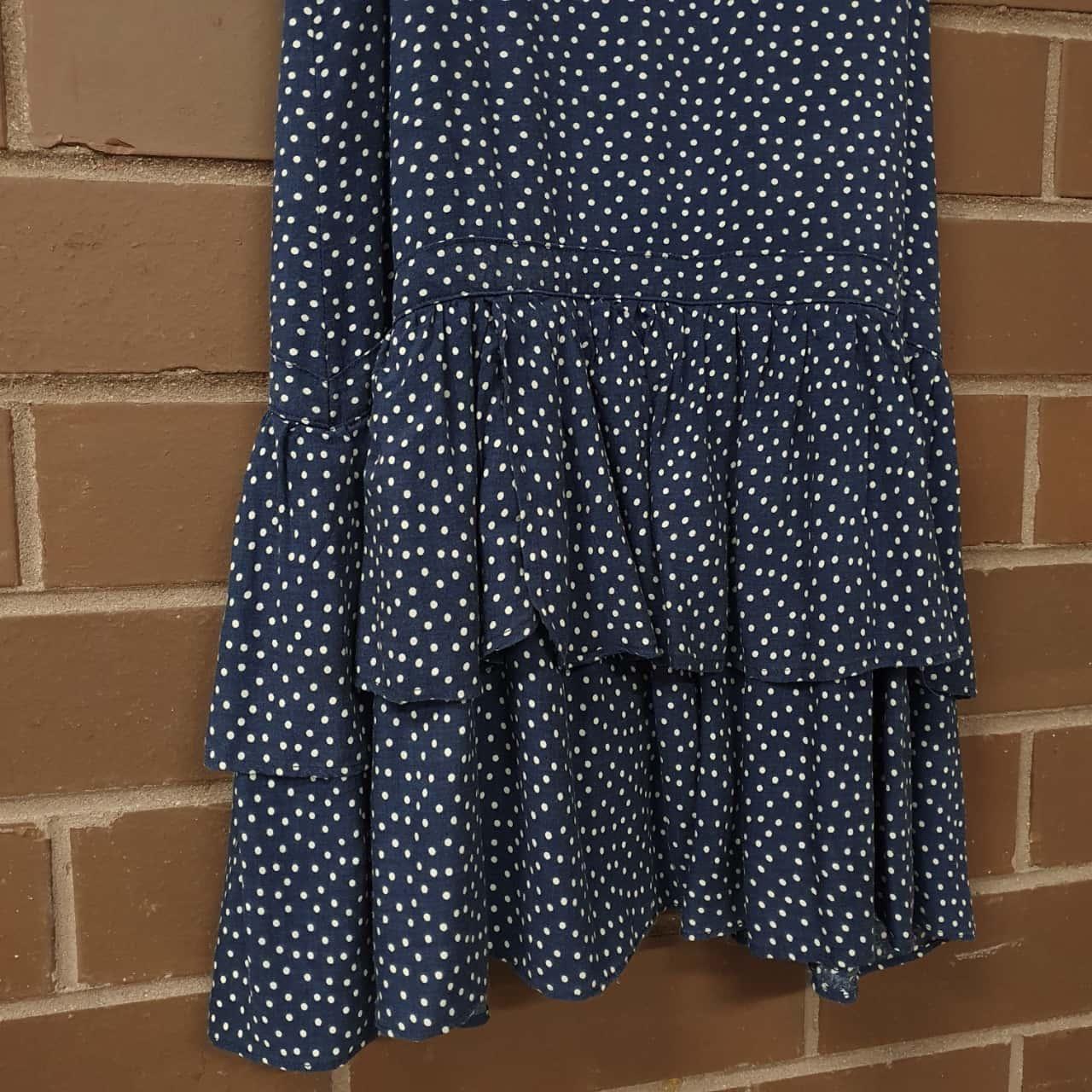 Tommy Hilfiger Polka Dot Dress Size 8/10 Years Blue/White