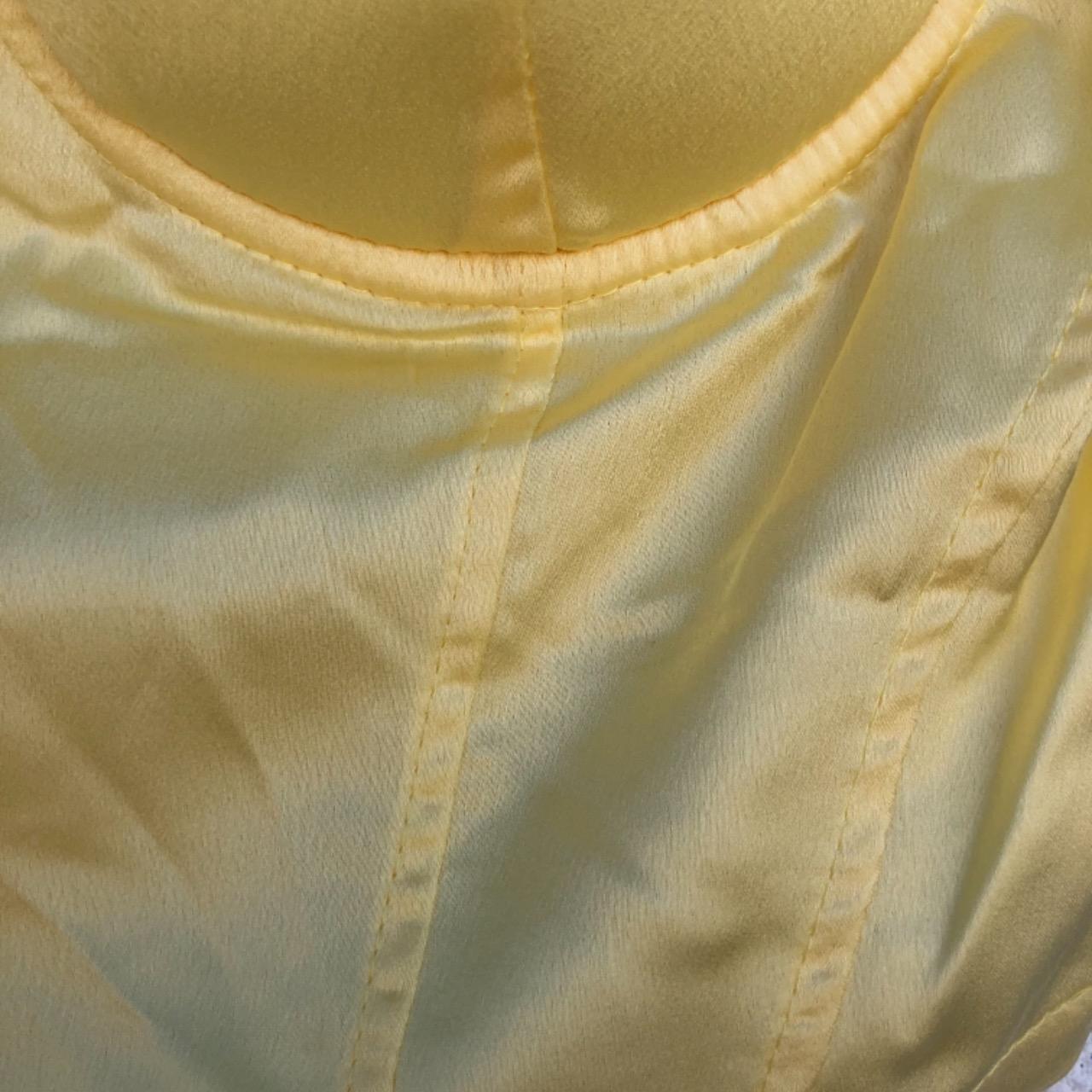 Princess Polly Women's Yellow Crop Bustier