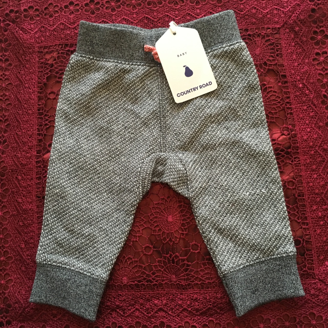 Country Road Size 0-3m Boys Speckle Sweat Pant, Grey, BNWT RRP $39.95