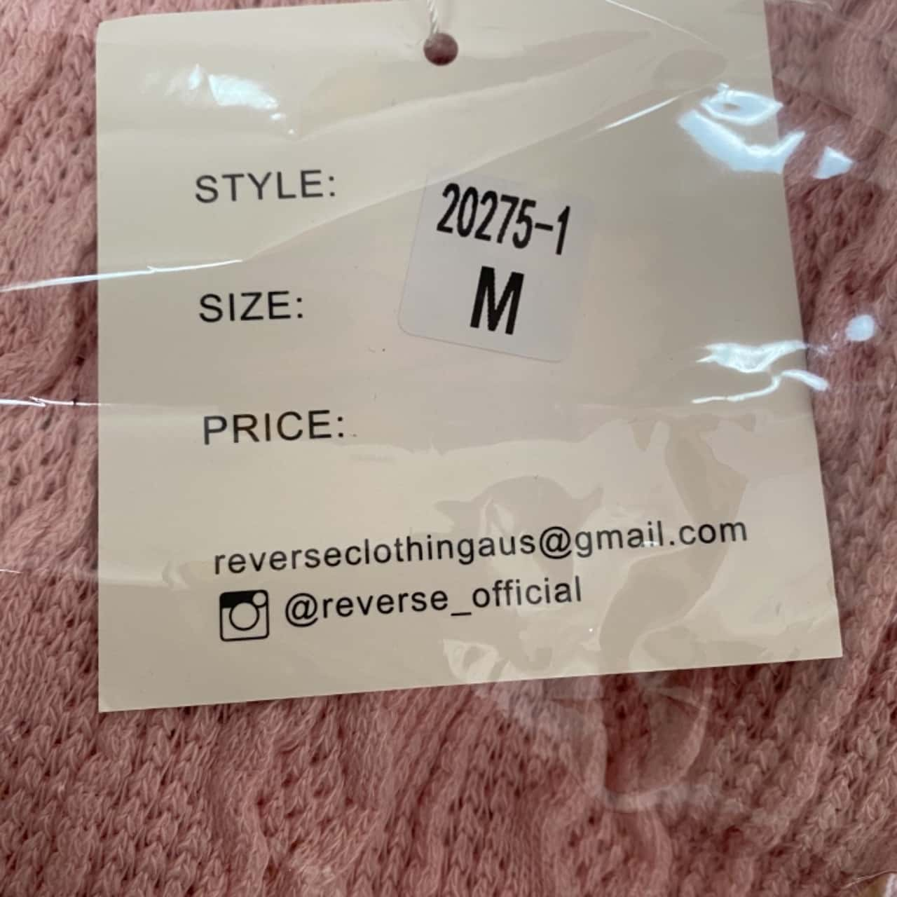 Reverse M Women's Pink 2pc Set - New with Tags