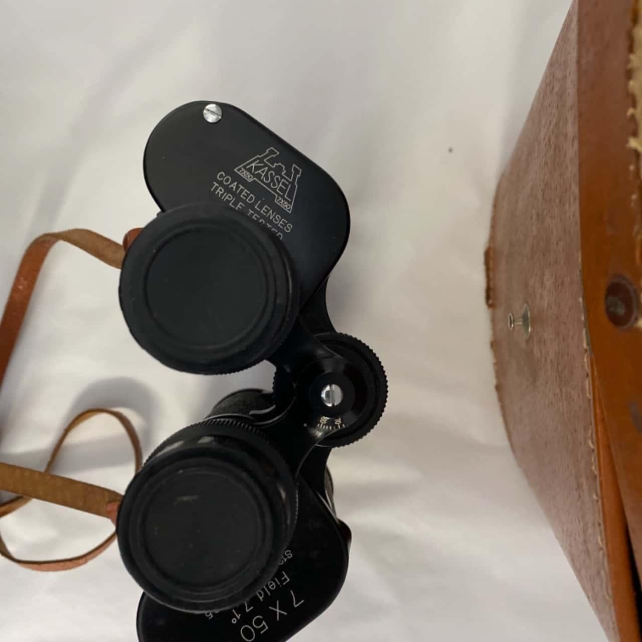 Binoculars with case