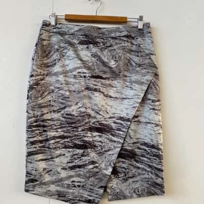 Veronika Maine Size 12 Pencil Grey formal skirt