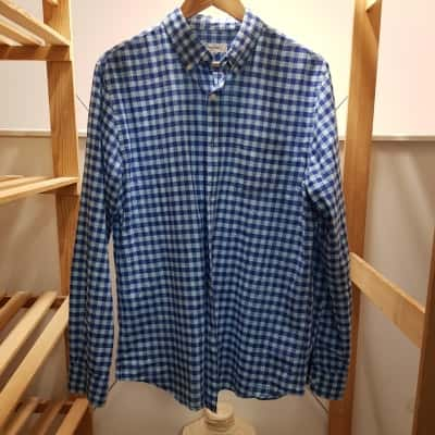 Country Road Mens Long Sleeve  Shirt Blue Size M