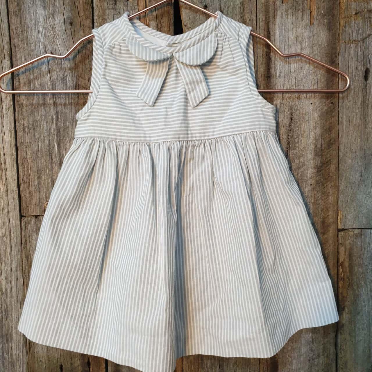 Baby's Jacadi Pinstripe Sleeveless Dress 6 months