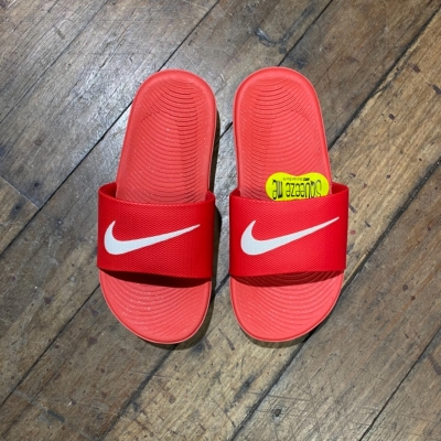Nike Kids Red Slides Size 2 US