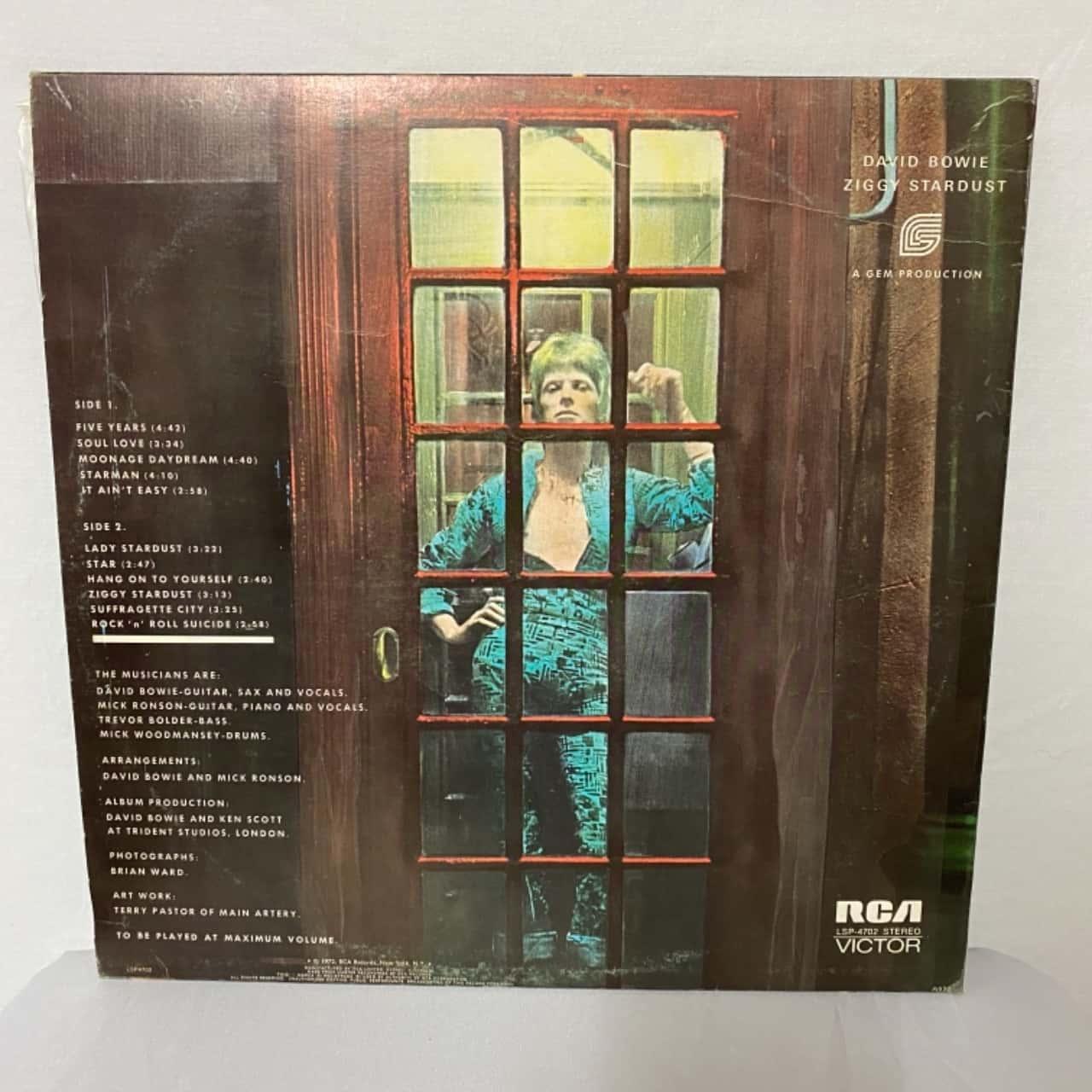 Vinyl Record David Bowie Ziggy Stardust