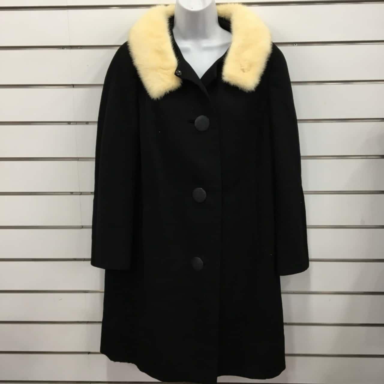 Pacific Fashions Womens Heavy Overcoat Black