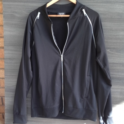 New Without Tags Mens BOO HOO MAN Casual Jacket Black  Size XL