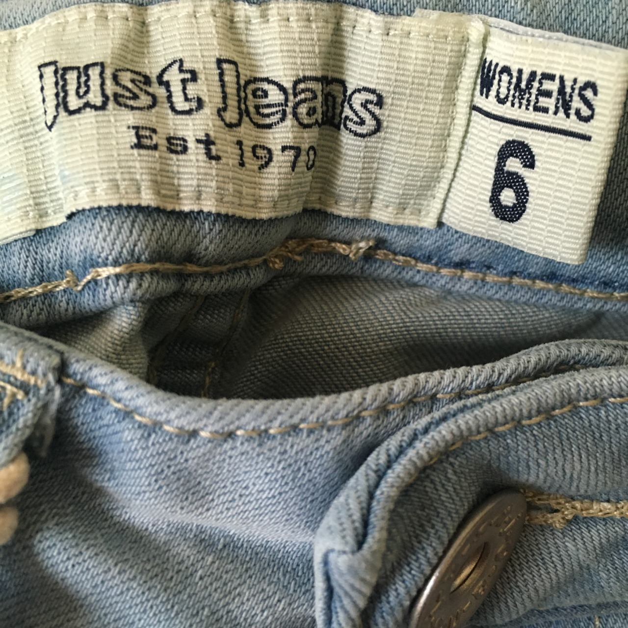 Just Jeans Womens  Size 6 High Rise Skinny Jeans Blue BNWT