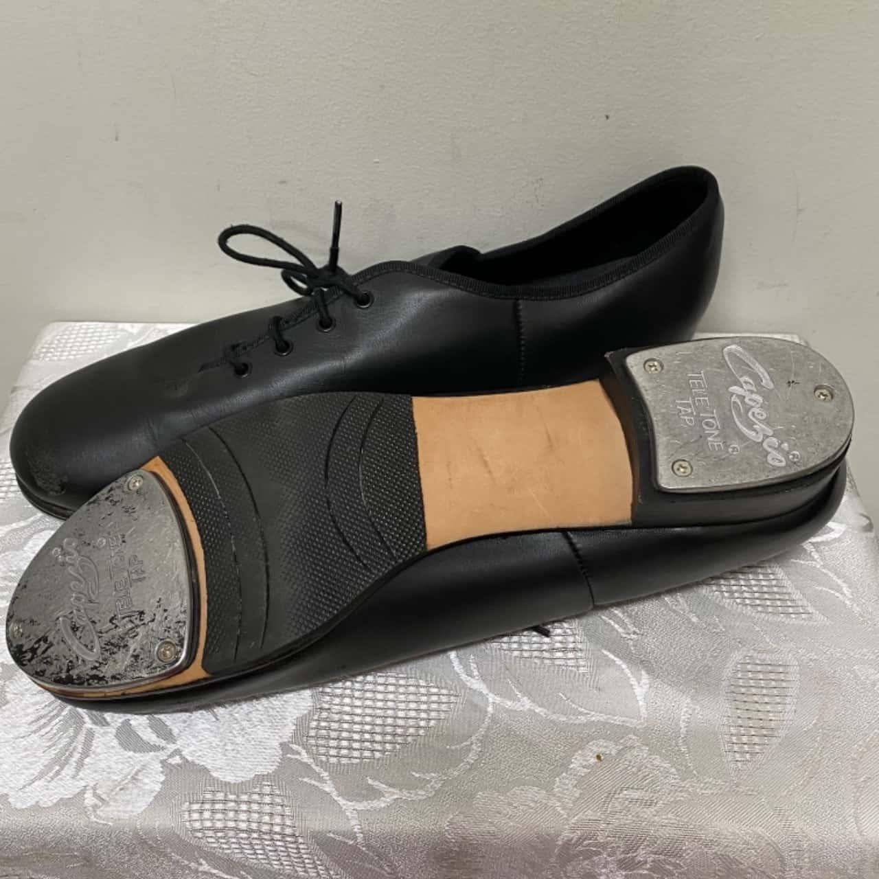 Men's Lace Up Capezio Tap Shoes Black