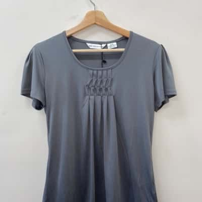 ** REDUCED ** Biz Collection Women's Size 10 Silver Top - New With Tags