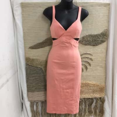 Bardōt Women's  Size 6 Peach Backless Party Dress As New