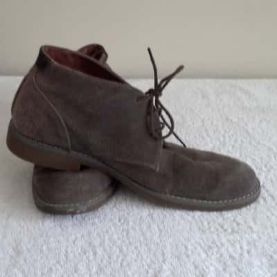 Mens  HUSH PUPPIES LACE UP DESSERT BOOTS Size 8 Brown
