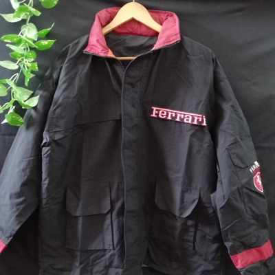 FERRARI Mens Jacket Black /Red Size XL