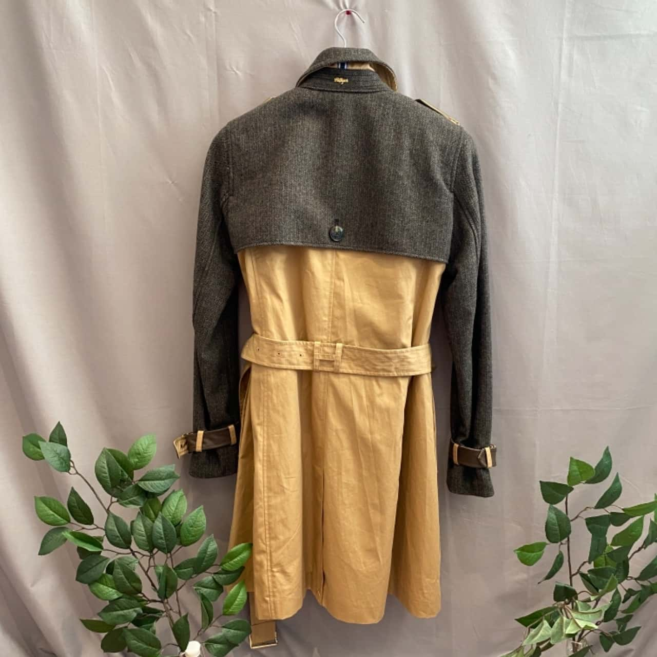 Tommy Hilfiger Women's Trench Coat ,Size XS Brown Grey