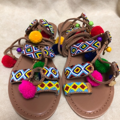 Betts Womens Lace Up Sandals Size 7 Brown/Multicoloured