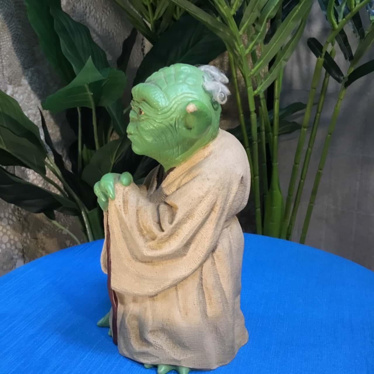 Vintage Star Wars 1981 Rubber Yoda standing figure