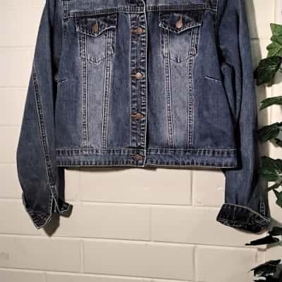 City Chic Womens Denim Jacket Blue Size Small
