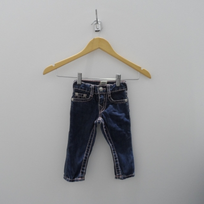 True Religion Baby Jeans  Size 6-12m Blue/Pink