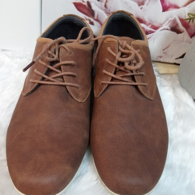Mens  Size 43 Brown Kenji Lace-ups