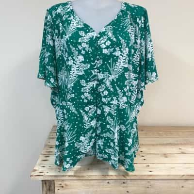 Autograph Green/White blouse Size 26