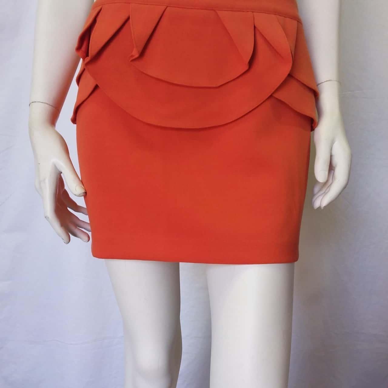 Womens  Size 10 Midi Orange