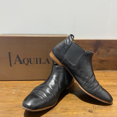 Men's Aquila pull on boot/shoe Size 41 Black  leather