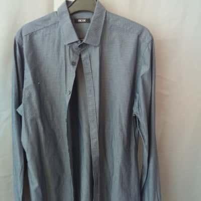 RDX Mens Blue/White Dot Shirt Size L UAN