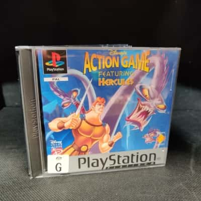 Play Station 1 Disney Action Game Featuring Hercules