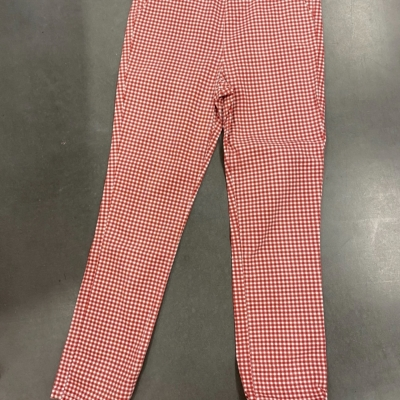 Womens SUBTITLED PENCIL LINE GINGHAM PANTS RETRO LOOK Red/White  SIZE M