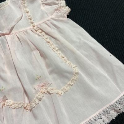 Baby Girls VINTAGE  Pink  Dress Size 0 MADE IN AUSTRALIA