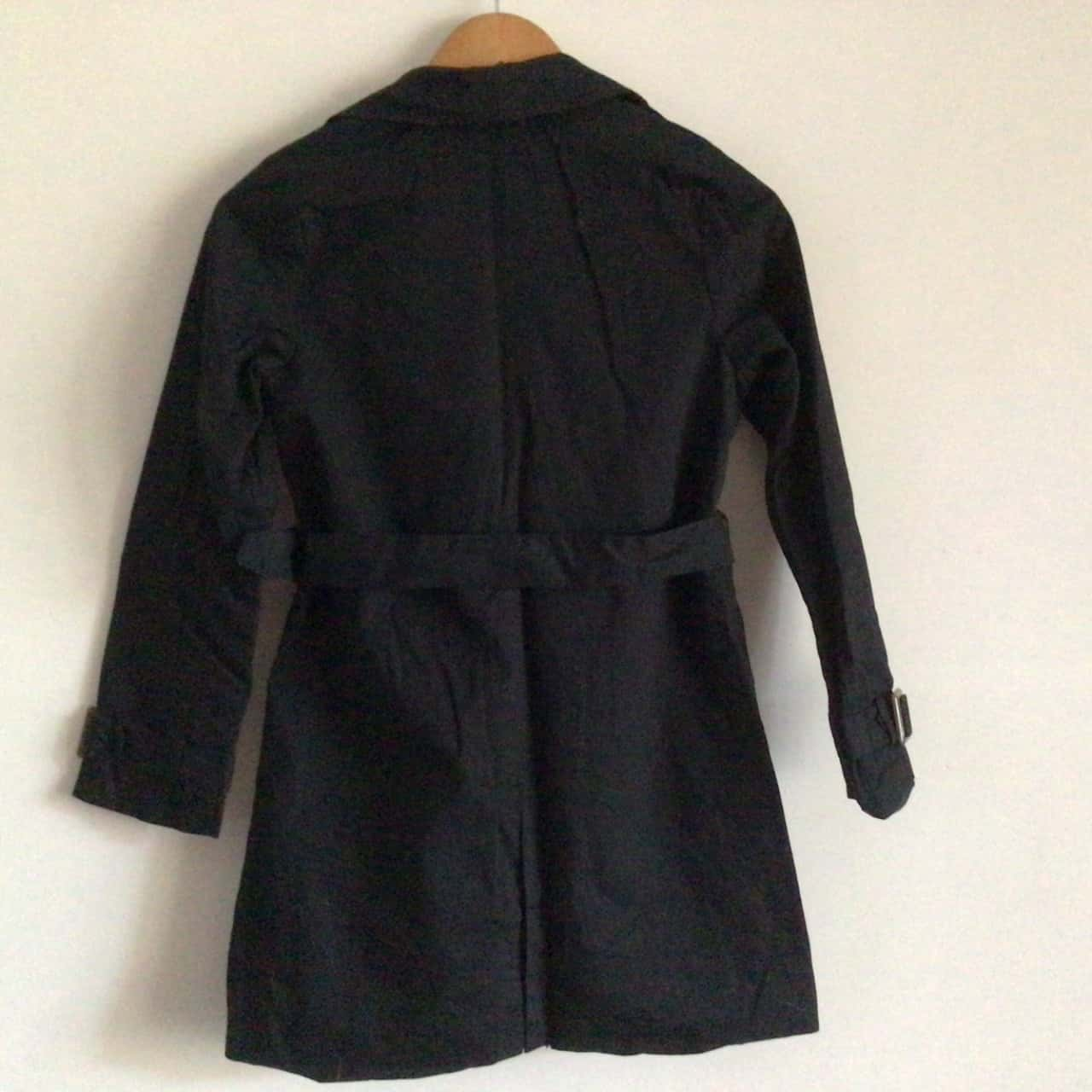 Girls ZARA &FRIENDS TRENCH COAT  Size 9/10  Black