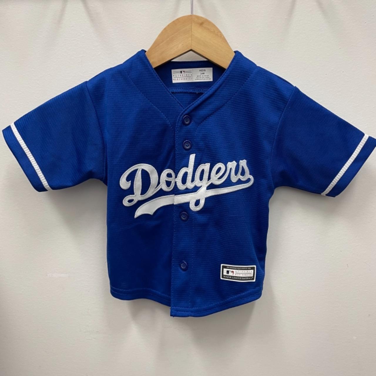 Majestic Kids Dodgers MLB Shirt Size 2 Blue/White