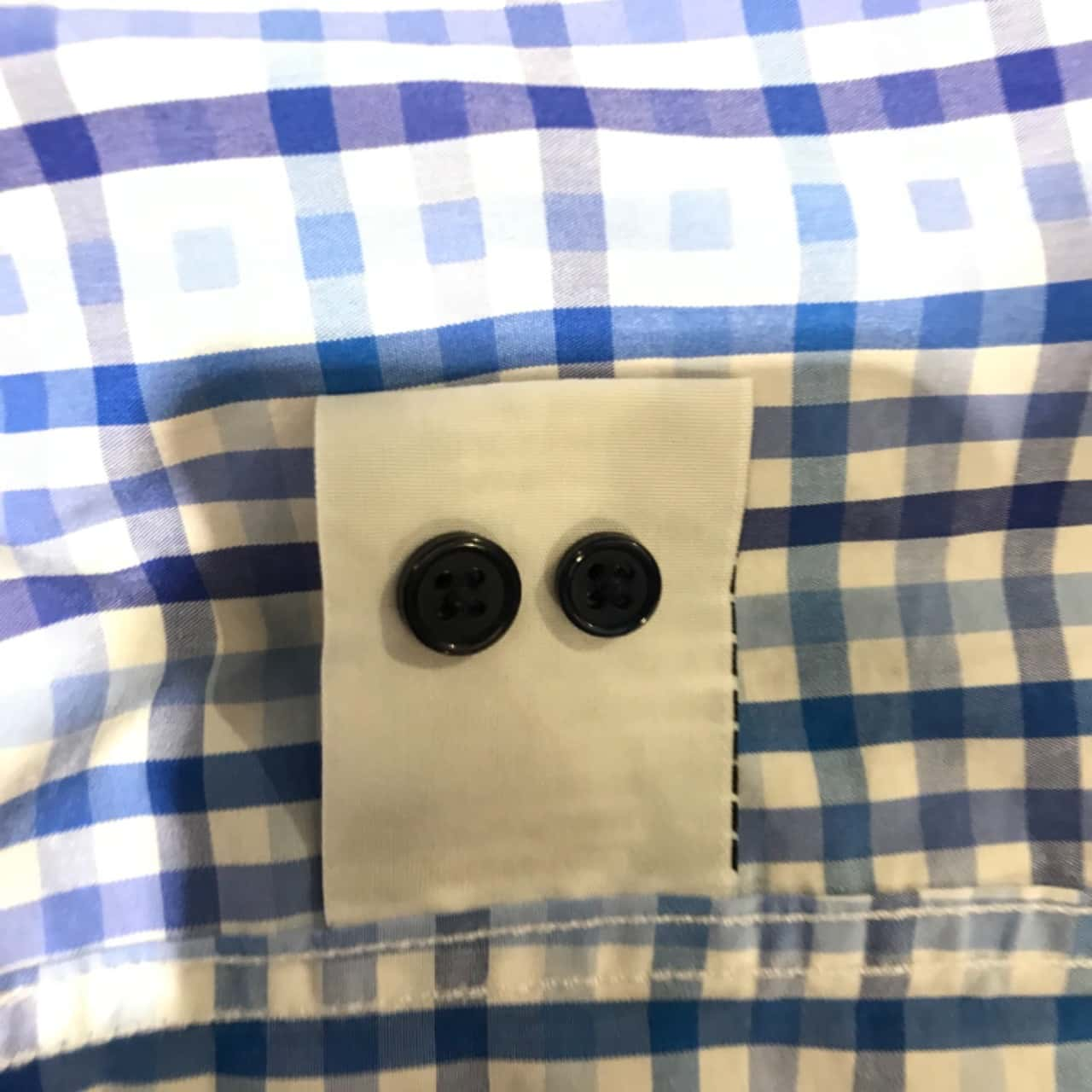 Connor Mens  Size S Business Shirt Blue/White