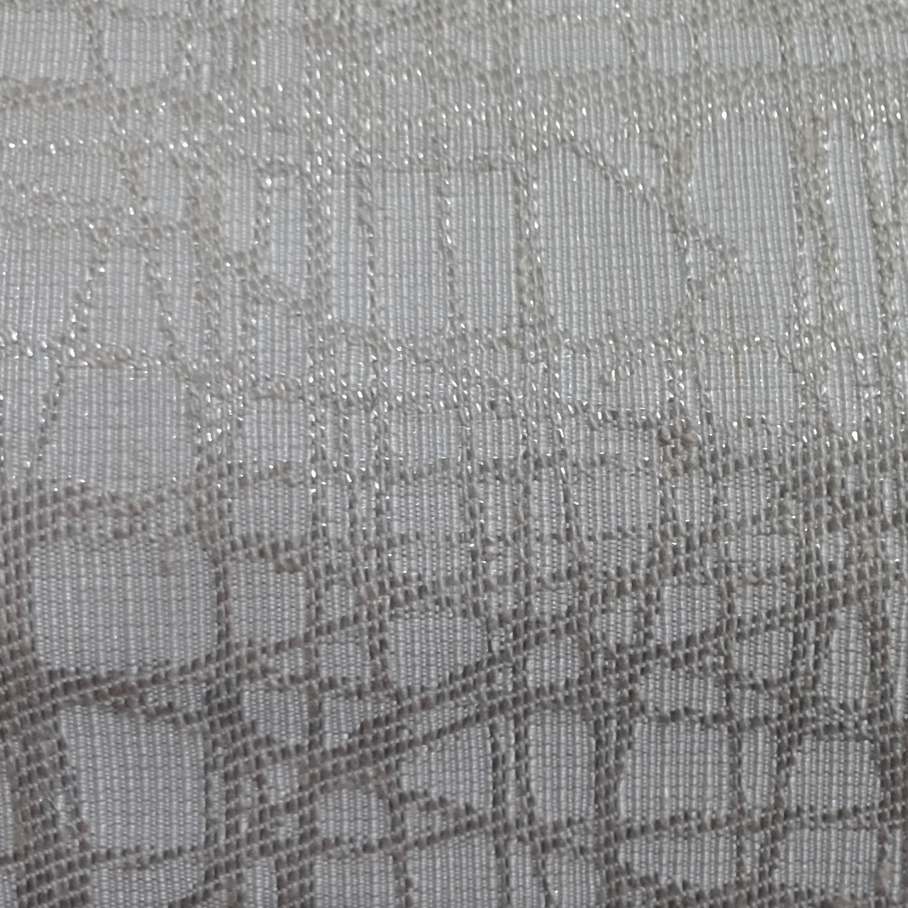 New Material Grey /Silver Geometric Flashes 525 cm x 150 cm