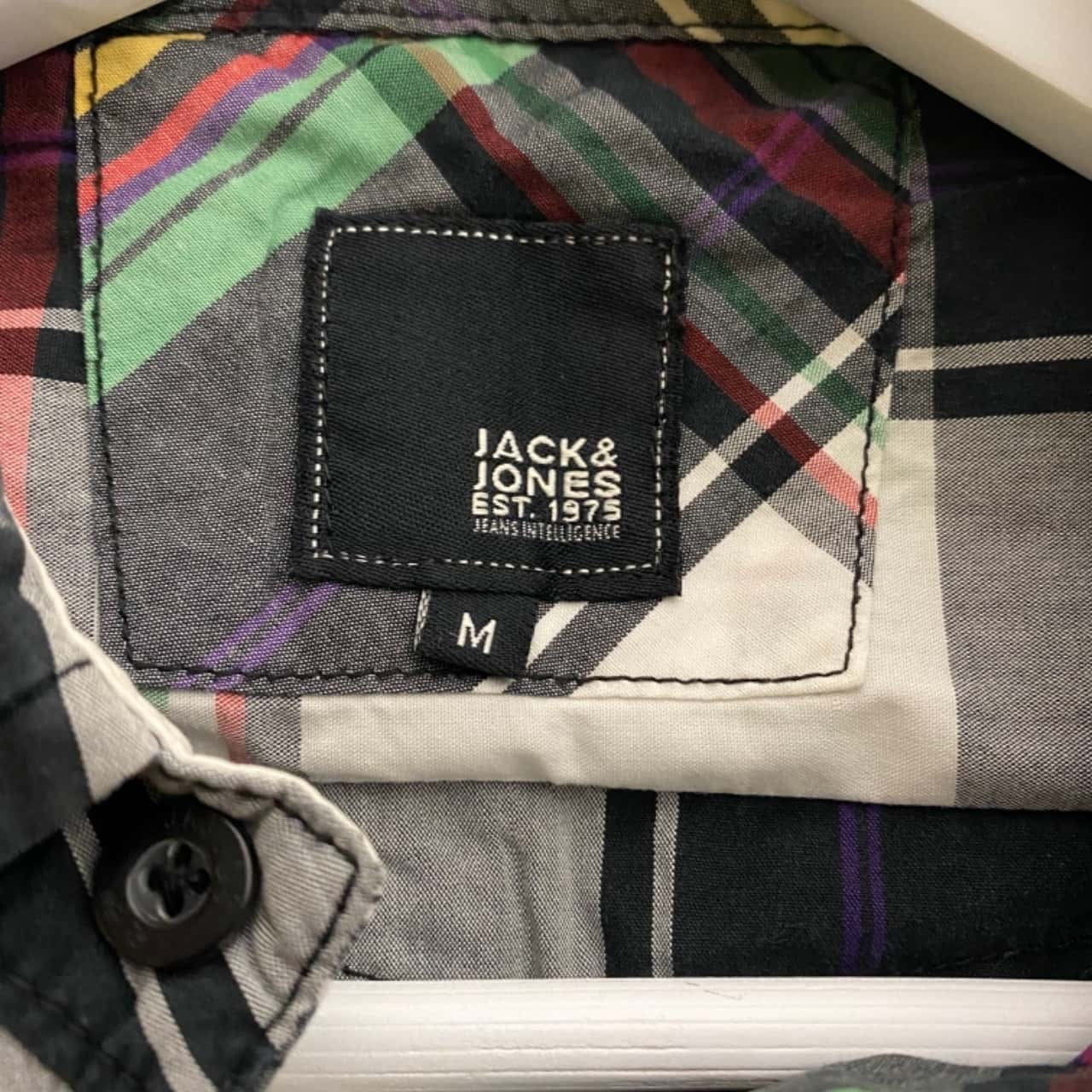 Jack and Jones Mens  Size M Button Up Long Sleeve Multicoloured