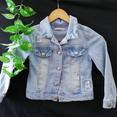 Target Girls Denim Jacket Sequin Detail Size 6