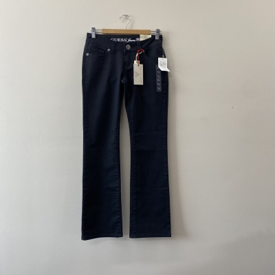 Guess Women's Size 26 Bootcut, Very Low Rise, Slim Fit Jeans Black - New With Tags