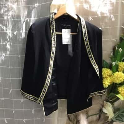 Womens  Bebes Sydney Vest & Capelet Jacket Size 8