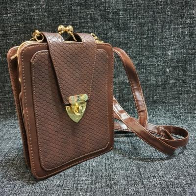 Faux 'Fendi' Mens Brown Crossbody Bag