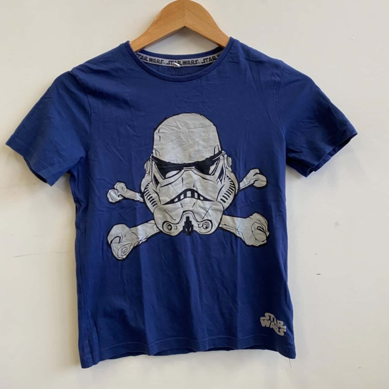 Star Wars Kids Size 9-10 Years Stormtrooper Print Navy T-shirt