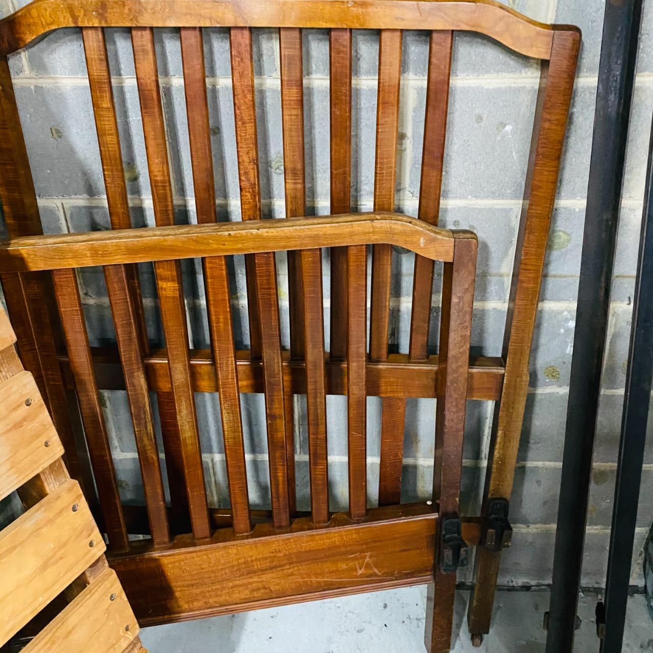 Antique Blackwood Single Bed Frame Circa 1920`s