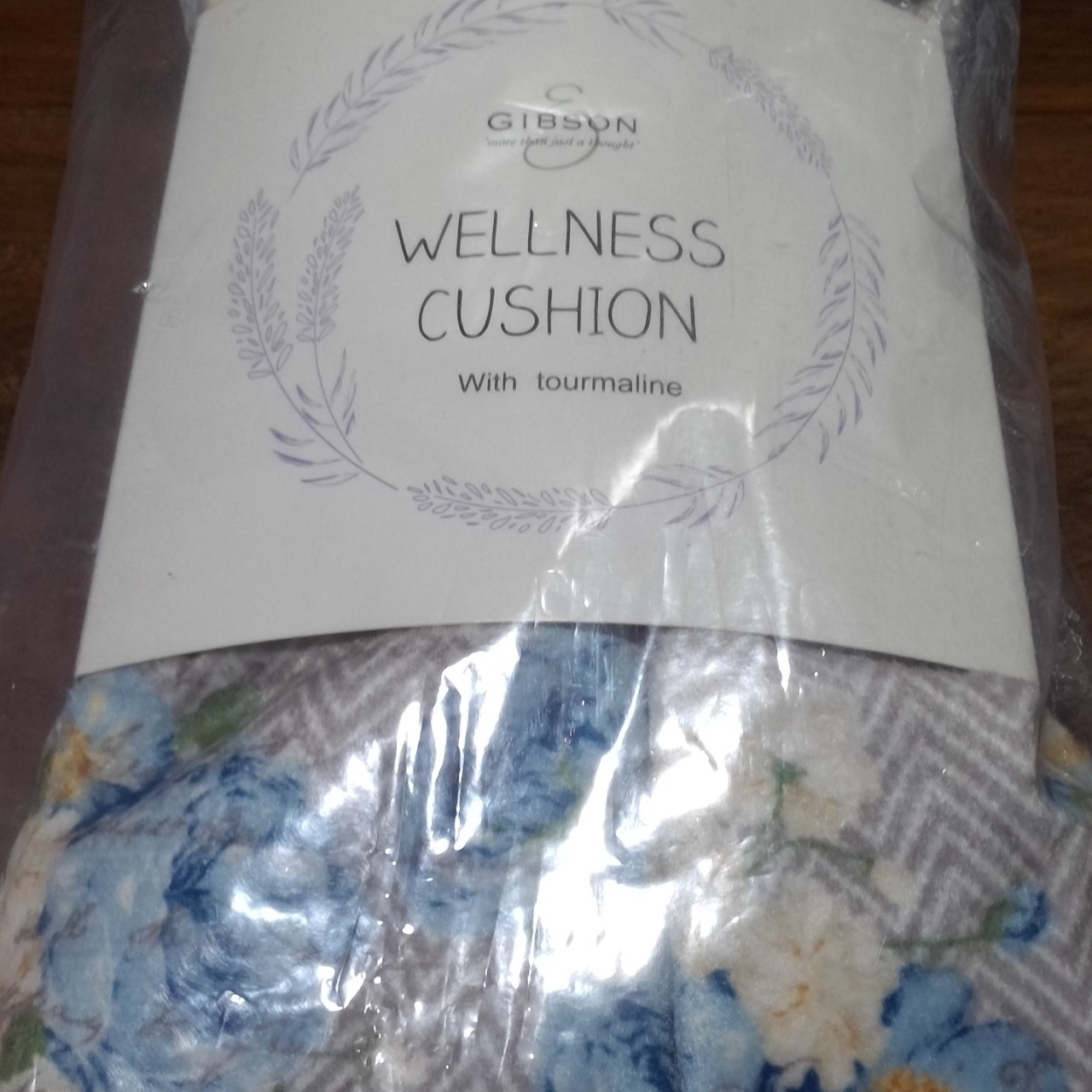 BNWT GIBSON WELLNESS CUSION (Hot /ColdPack) TOURMALINE Blue Floral