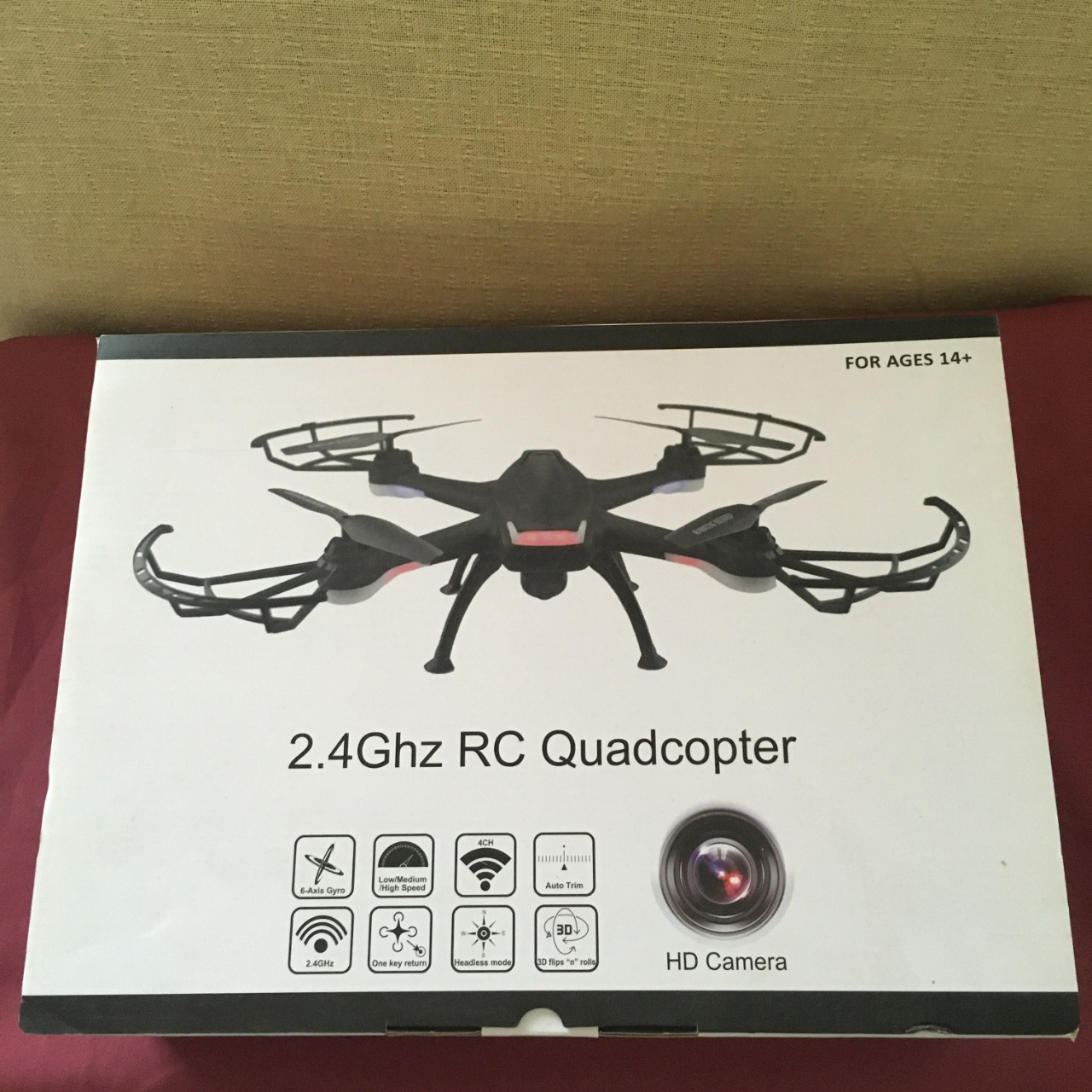 2.4Ghz RC Quadcopter With HD Camera, Brand New