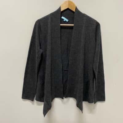 Blue Illusion Womens Cardigan Size S Dark Grey