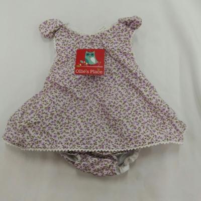 BNWT OLLIES PLACE Baby Girl Twin Set  Size 000 Green/Purple  VERY CUTE