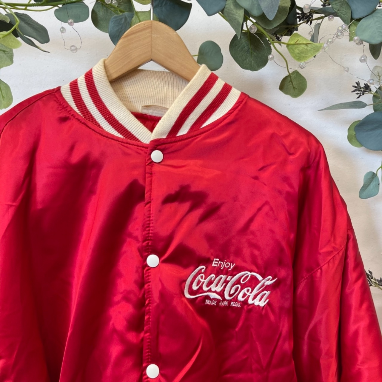 Vintage Coca-Cola Future Ball Bomber Jacket Mens  Size XL Red