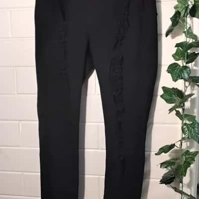 Womens  Size 11 Distressed Jeans Black  Fashion NOVA
