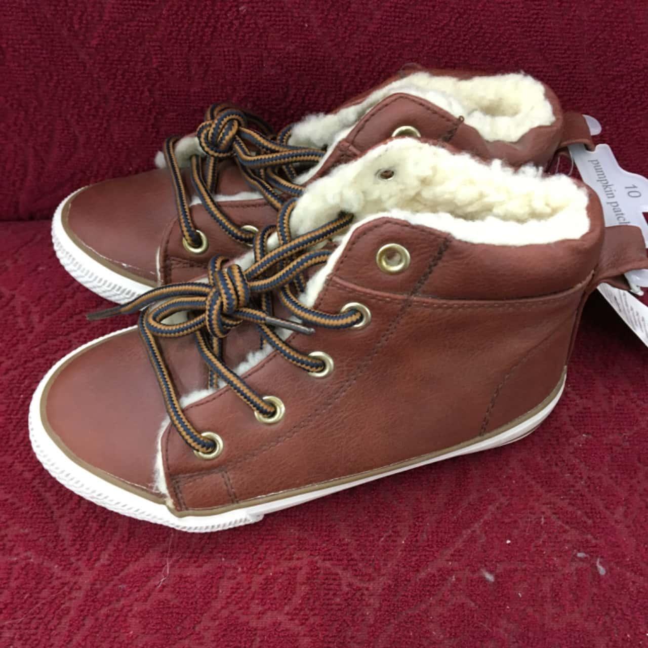 Pumpkin Patch Kids  Size 10 Shoes Brown